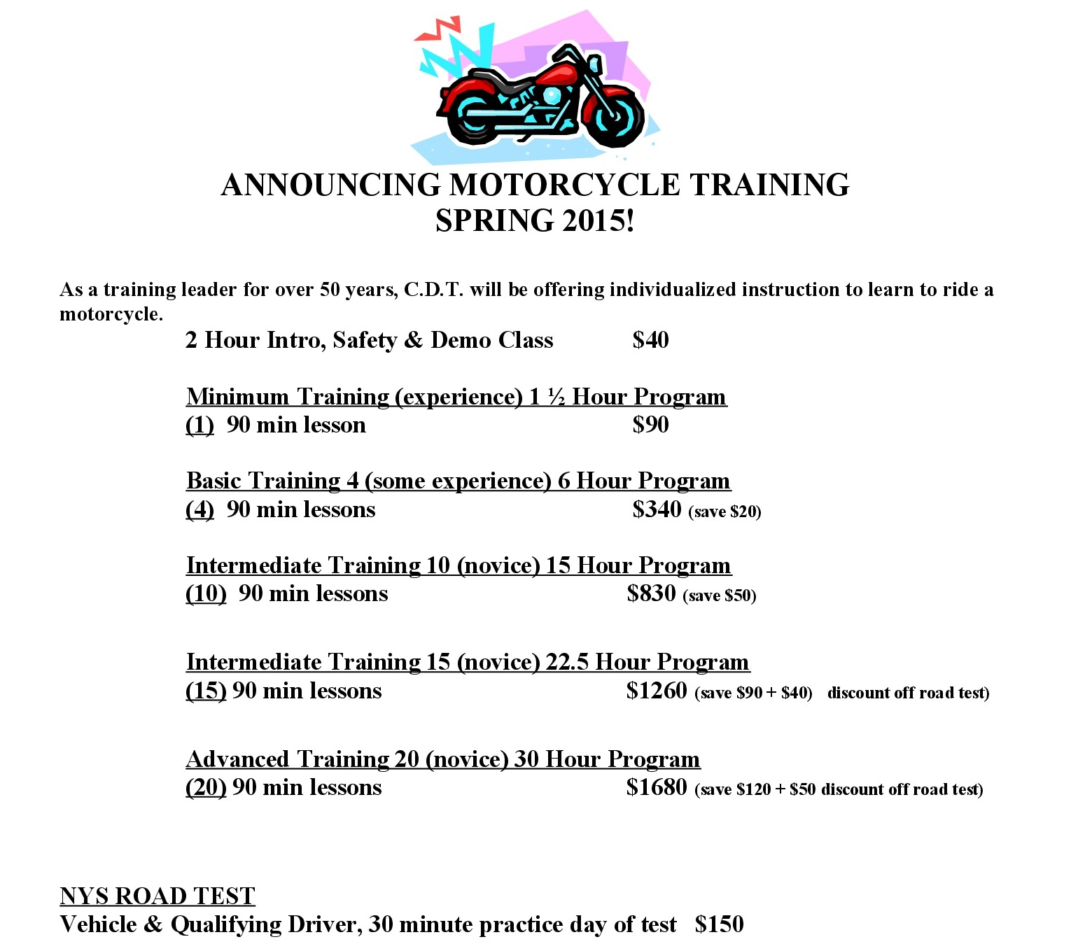 Motorcycle Training new2